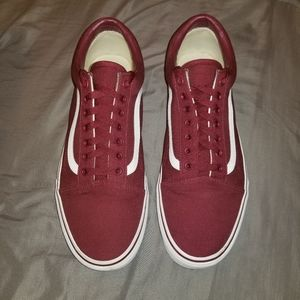 Van's (canvas) cordovan/true white old skool